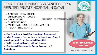 Staff Nurse Vacancies for a Private Hospital in Qatar- Apply Today