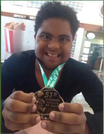 Único judoca com síndrome de down em Roraima