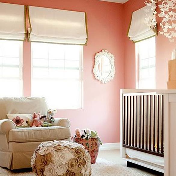 decoración cuarto bebé coral
