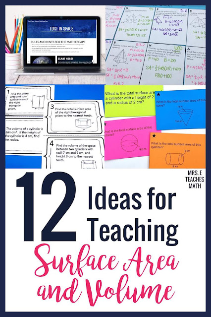 These ideas, activities, and projects for surface area and volume are sure to be a hit with your geometry students.