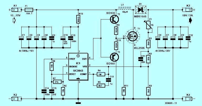 Car Laptop Power Supply Adaptor Simple Schematic Collection