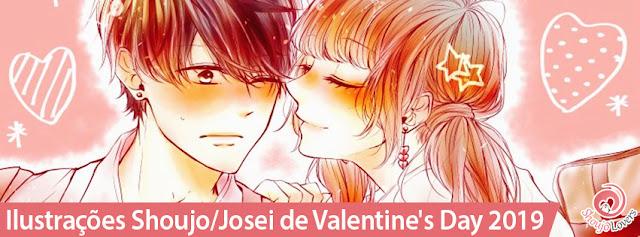 Ilustrações das mangakás Shoujo Valentine's Day 2019