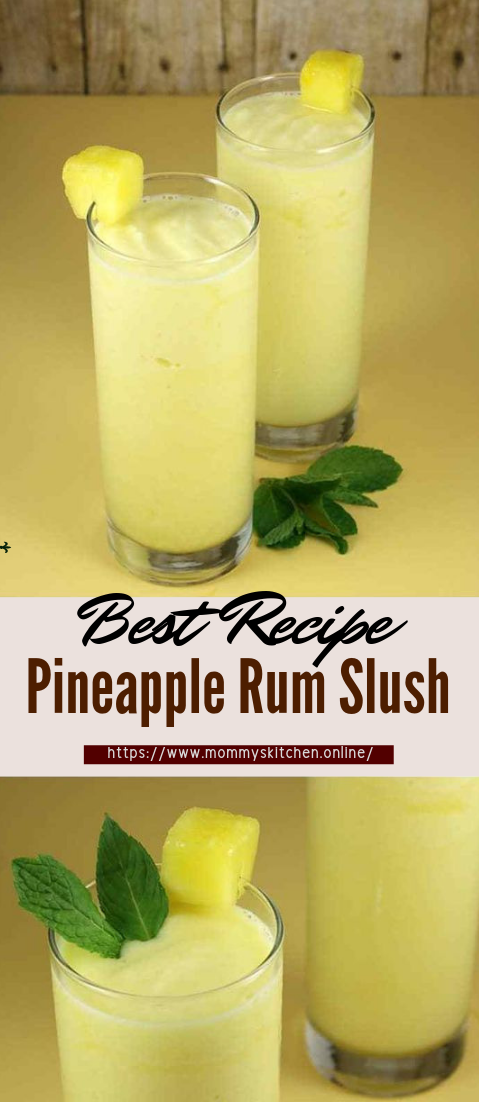 Pineapple Rum Slush #healthydrink #easyrecipe #cocktail #smoothie