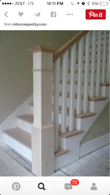 Mission Style Staircase from Pinterest