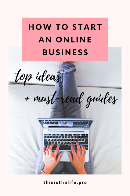 Pinterest pin image - How to build an online business - top ideas and must-read guides