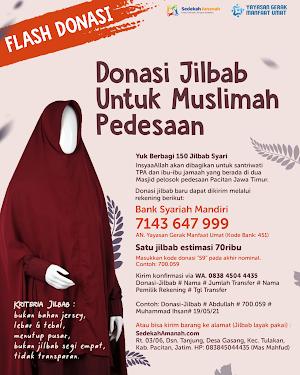 Flash Donasi Tebar 150 Jilbab Untuk Muslimah Pedesaan