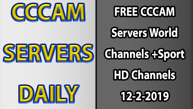 FREE CCCAM Servers World Channels +Sport HD Channels 12-2-2019