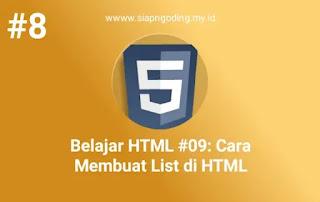 cara membuat list di html