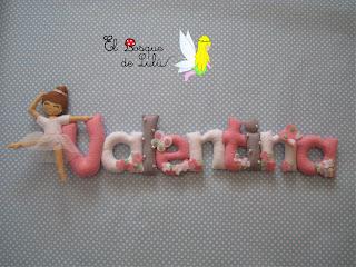 nombre-personalizado-fieltro-felt-feltro-Valentina-elbosquedelulu-hechoamanoparati-bailarina-decoración-infantil-name-banner-babayroom