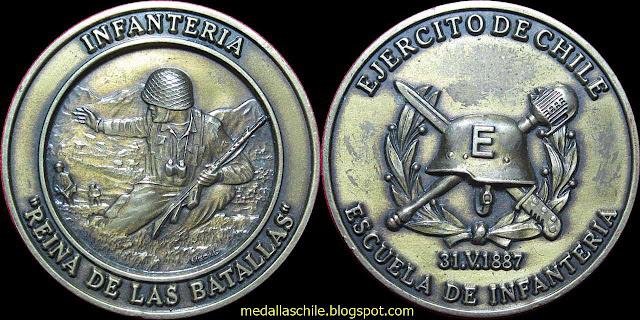 Medalla Escuela de Infanteria