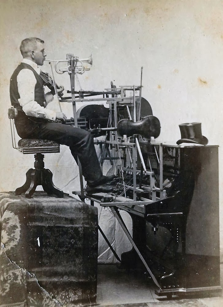 One man band, ca  late 1800s ~ vintage everyday