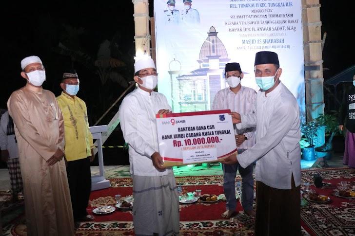 Bupati Tanjabbar Resmikan Masjid As-Shahabah Di Tungkal Ilir