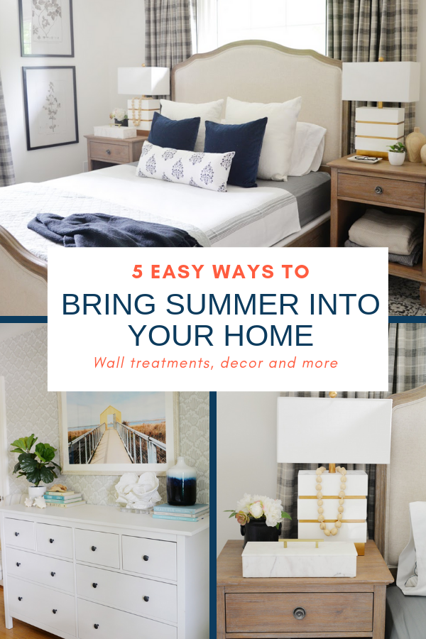easy ways to bring summer into your home, summer decor ideas, summer bedroom