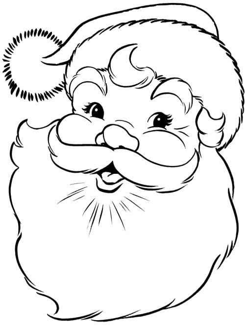 Papai Noel para Colorir rosto