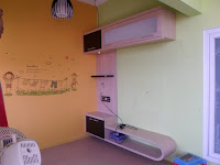 rak TV minimalis - desain rak TV - furniture semarang