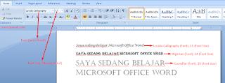 Mengubah Jenis Dan Ukuran Huruf Microsoft Word