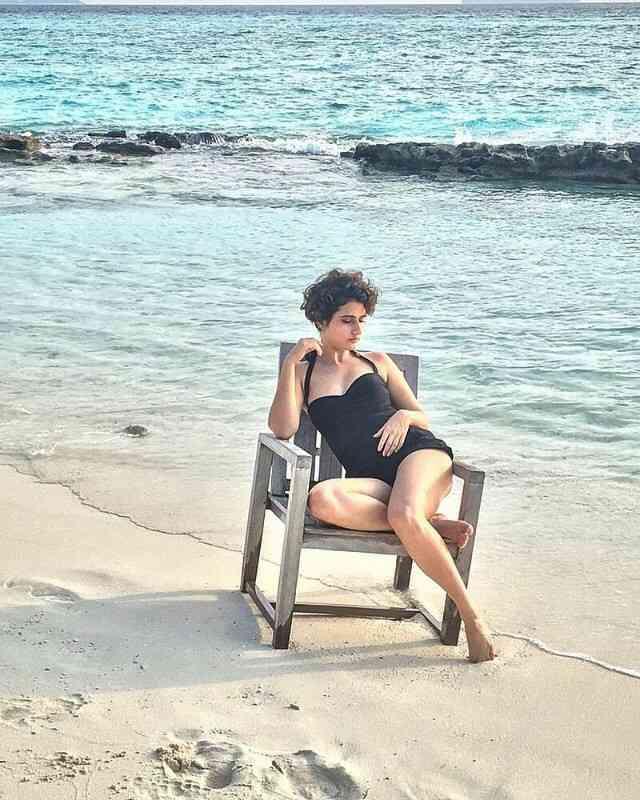 Dangal Beauty Fatima Sana Shaikh Beach Side Bikini Stills