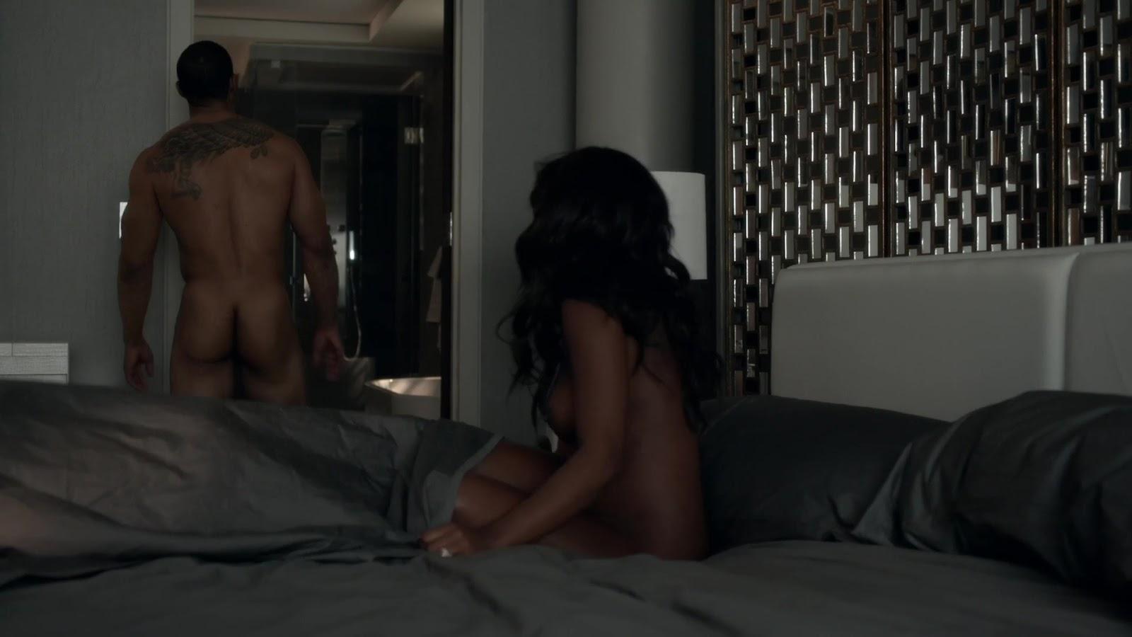 Auscaps Omari Hardwick Nude In Power 1-01 -8553