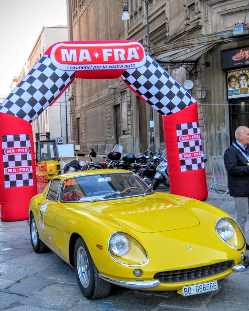 Road trip in Sicily - Ferraris at Targa Florio in Palermo