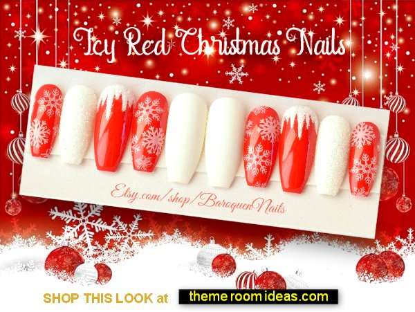 Decorating Theme Bedrooms Maries Manor Christmas Nail Art Ideas Christmas Nail Art Christmas Nails Christmas Nail Art Designs Christmas Nail Decorations Christmas Nail Designs Winter