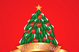 Vector art Christmas tree and new year 2016 free