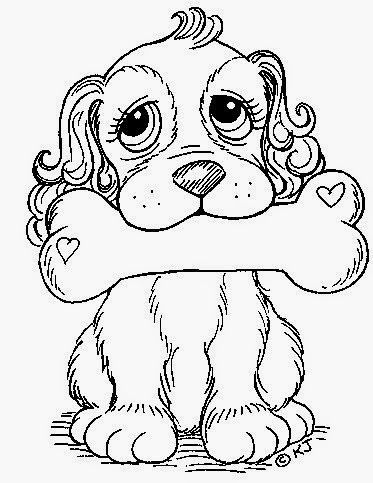 Dogs coloring pages 8