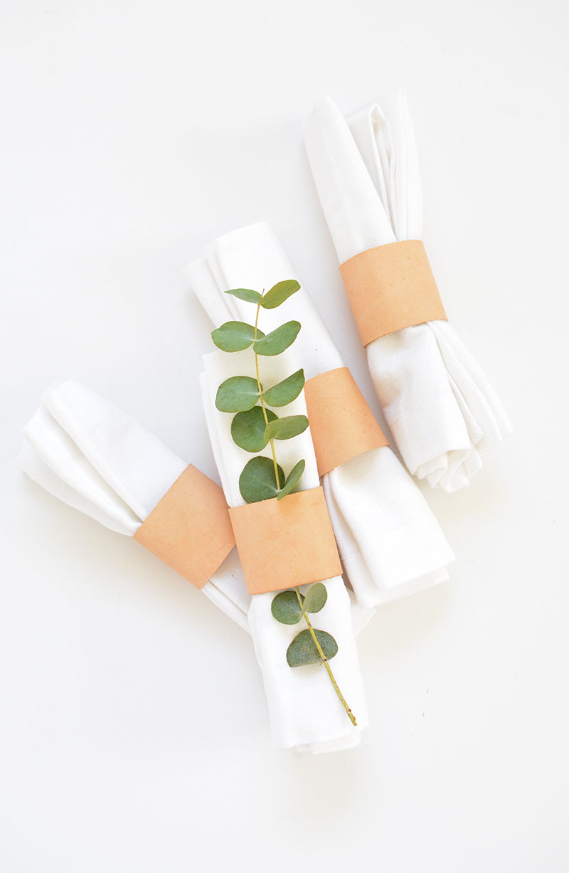 leather napkin ring project