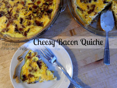 a basic quiche recipe Cheddar Cheese and Bacon Quiche