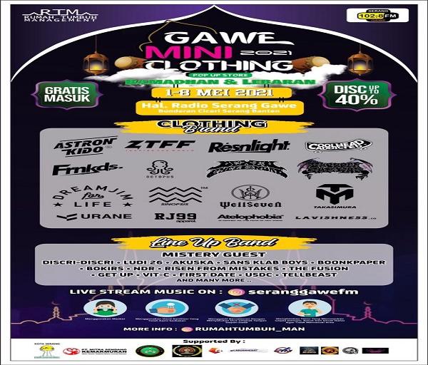 Bazar Ekonomi Kreatif yang Digelar RTM dan PWI Kota Serang Diikuti Belasan Brand Lokal