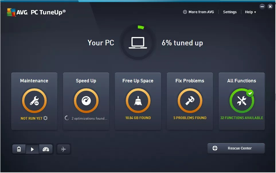 تحميل برنامج AVG TuneUp 2020 20.1 Build 1997 للحفاظ على جهاز الكمبيوترفي أفضل أداء