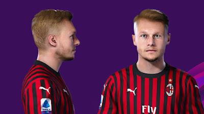 PES 2020 Faces Simon Kjær by Prince Hamiz