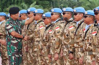 Letjen TNI Joni Supriyanto Pimpin Upacara Pemberangkatan Satgas PBB ke Kongo