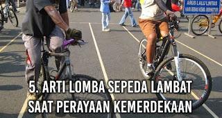 Arti Lomba Sepeda lambat Saat Perayaan Kemerdekaan