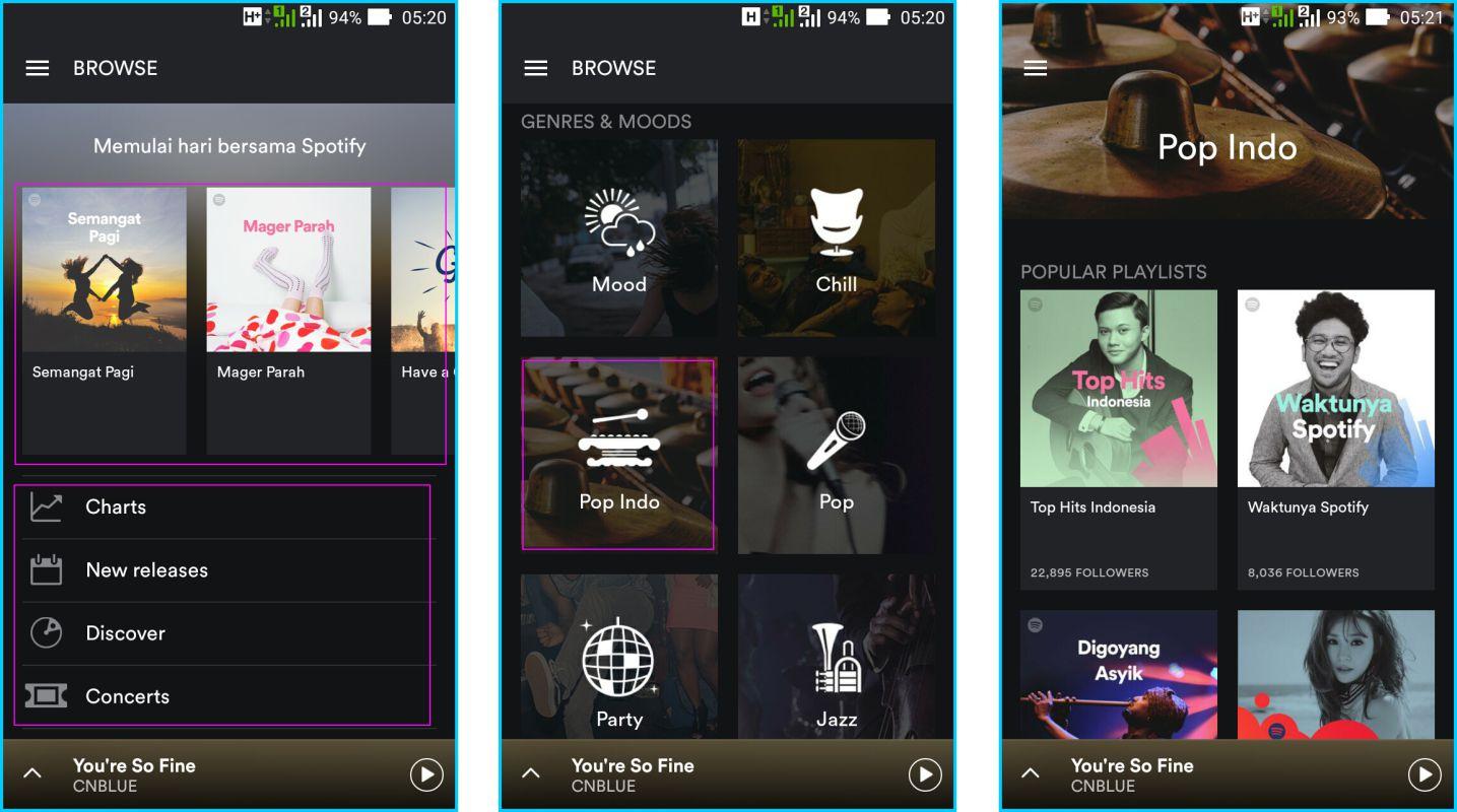 Spotify - Halaman Muka Aplikasi Spotify
