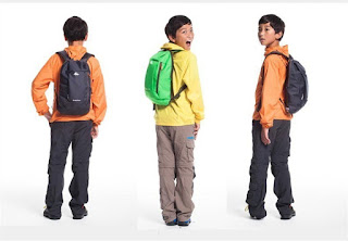 Boys with backpacks