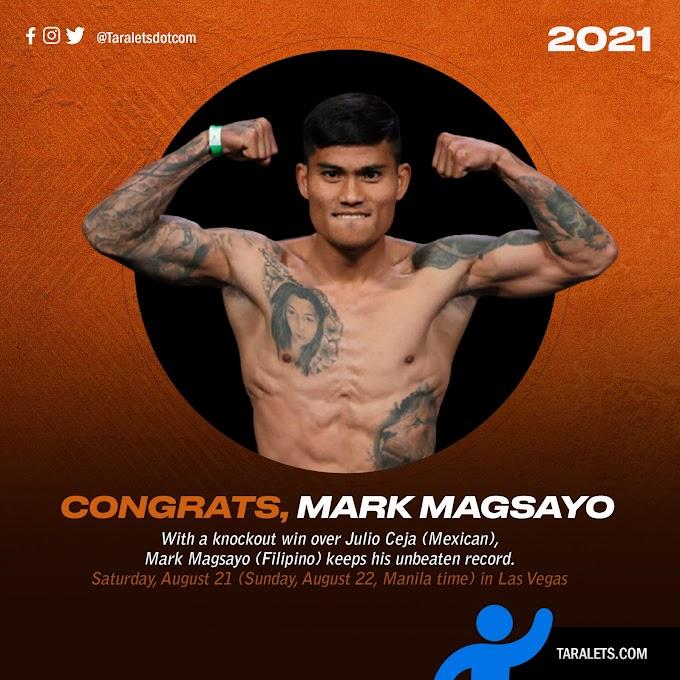 Mark Magsayo WINS