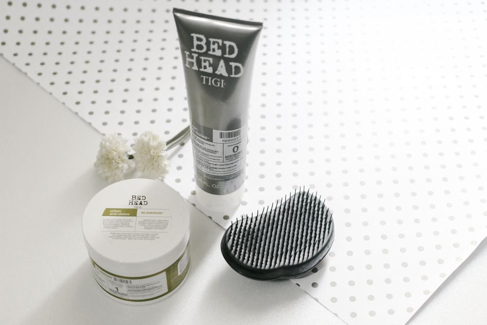 shampoo & máscara bed head urban / coffee & flowers