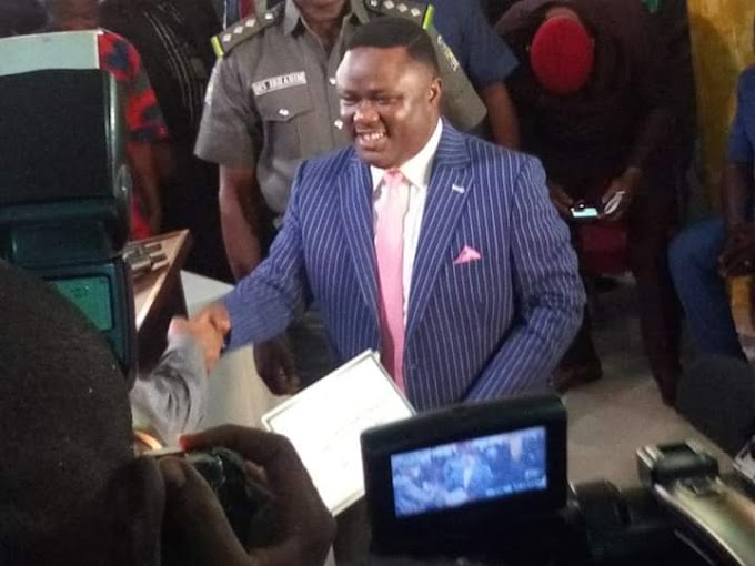 JUST IN: GOV BEN AYADE, CRSHA MEMBERS ELECT RECEIVE THEIR CERTIFICATES OF RETURN