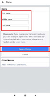 how to change name on facebook app android