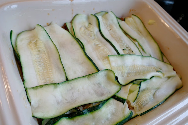 lasagne med zucchini och kyckling