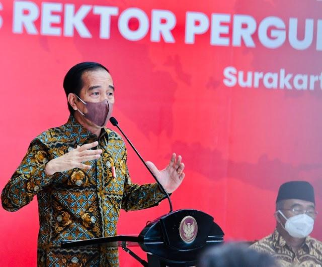 Pertemuan Majelis Rektor PTN, Presiden Jokowi Minta Talenta Mahasiswa Dikembangkan