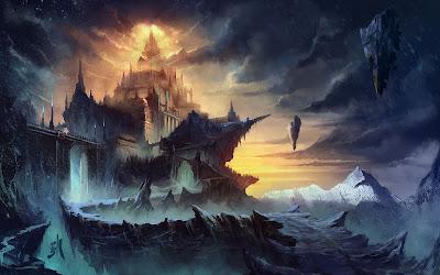Papel de Parede Fantasia Castelo na Montanha
