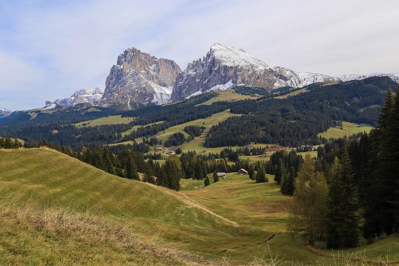 Veduta panoramica sull'alpe di siusi
