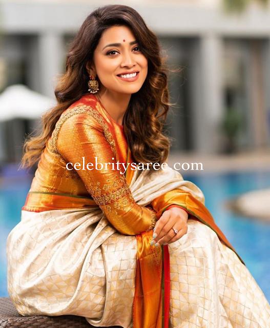 Shriya Saran Golden Blouse