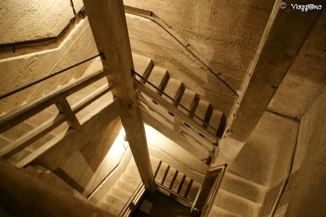 Le scale per raggiungere i sotterranei del Forte di Mutzig