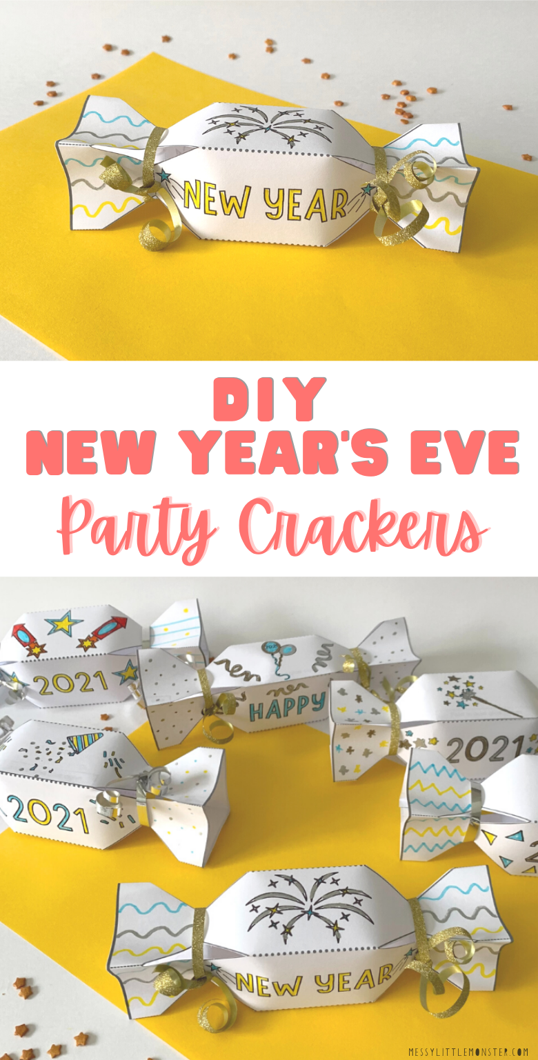 DIY Crackers. New Years Eve cracker template. Party crackers to make.