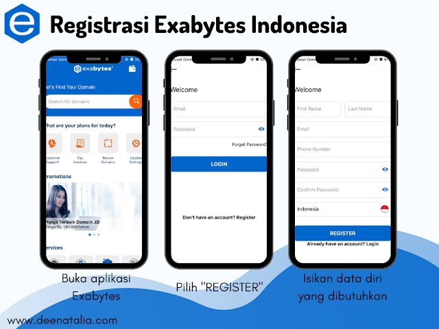 Registrasi aplikasi Exabytes Indonesia