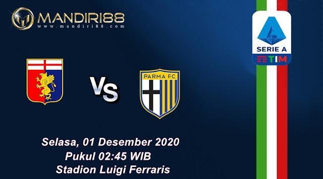 Prediksi Genoa Vs Parma, Selasa 01 Desember 2020 Pukul 02.45 WIB