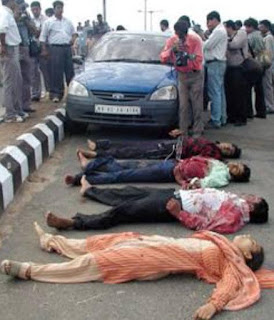 Ahmadabad 15 June 2004: The bodies of the four peoples along with Ishrat Jahan killed in a fake encounter
