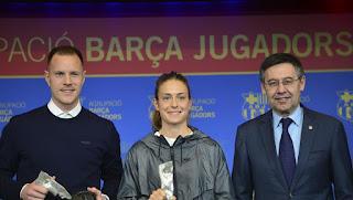 'I'll thank Valverde' - Ter Stegen excited after winning the Fair Play award